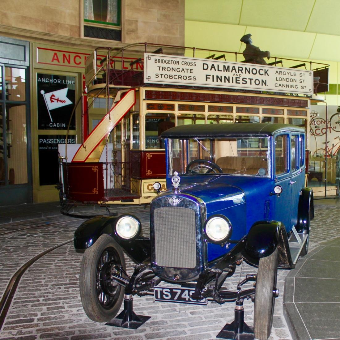 Vintage Car at Riverside Museum, Glasgow, by Jez Braithwaite