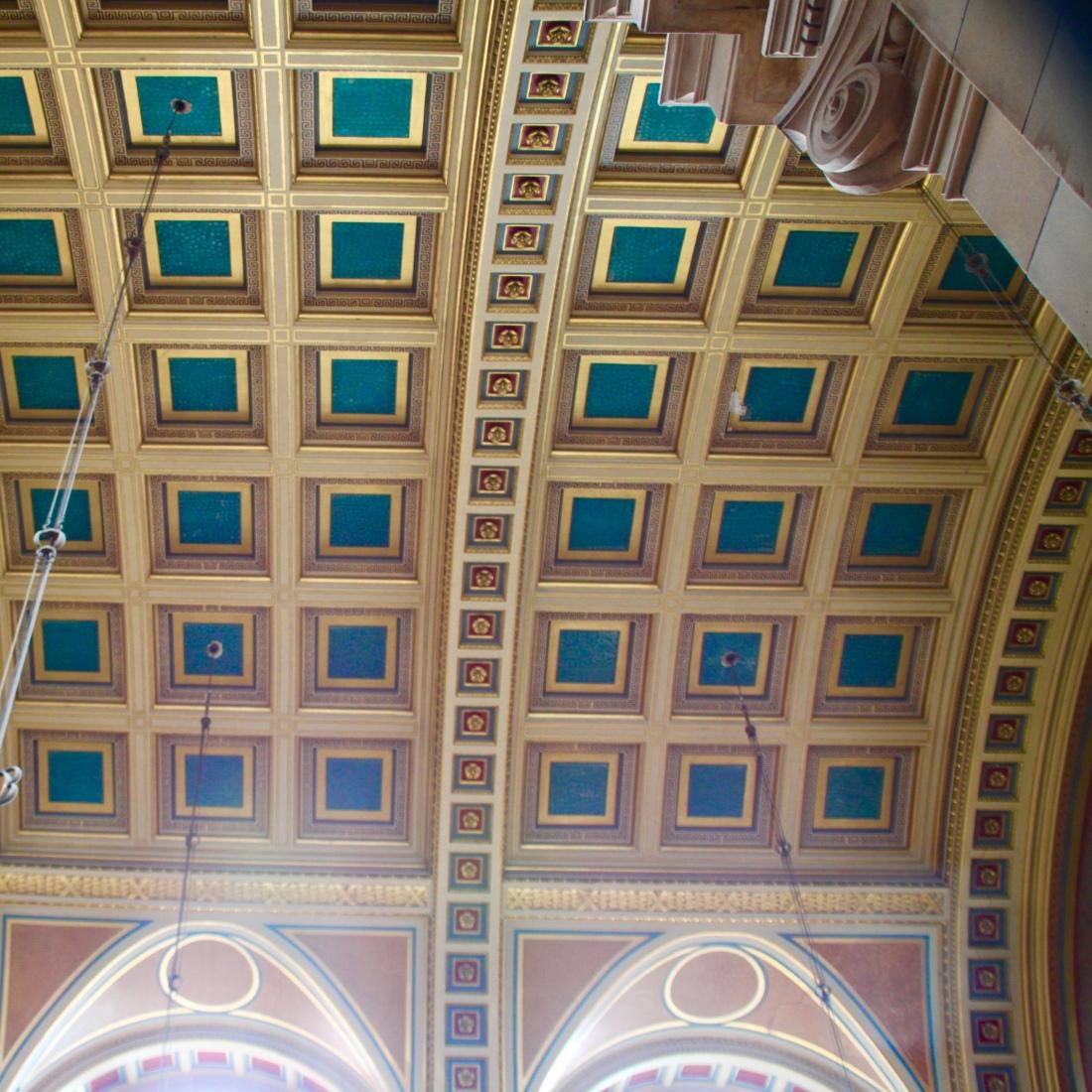 Kelvingrove Art Gallery and Museum vaulted ceiling, Glasgow, by Jez Braithwaite