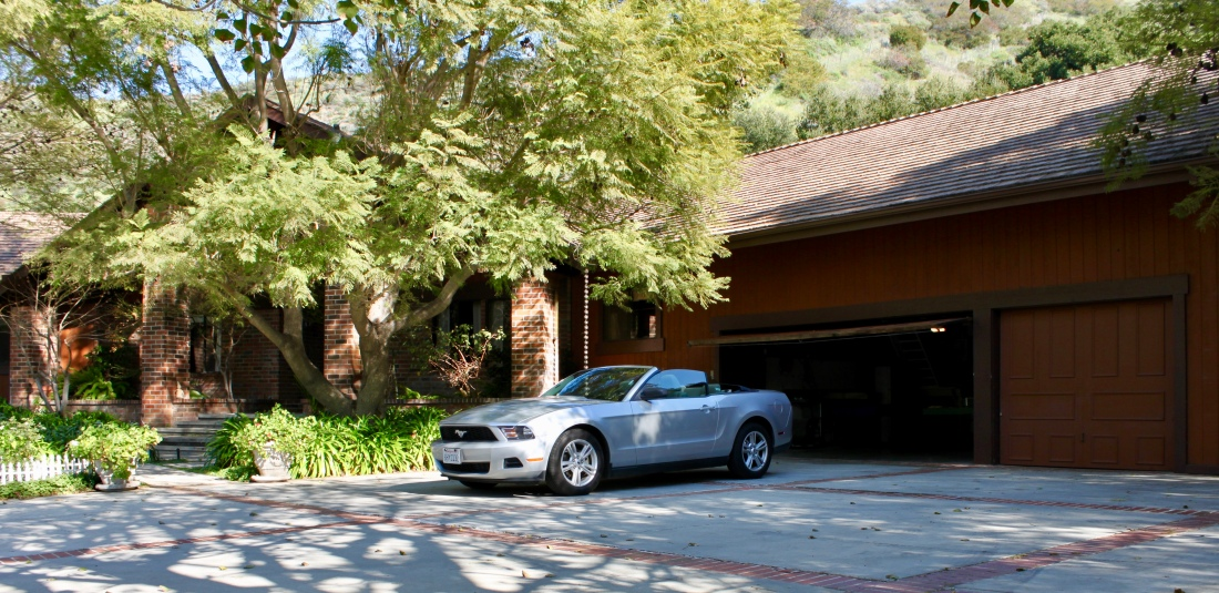 Ford Mustang convertible by Jez Braithwaite in Serra Canyon