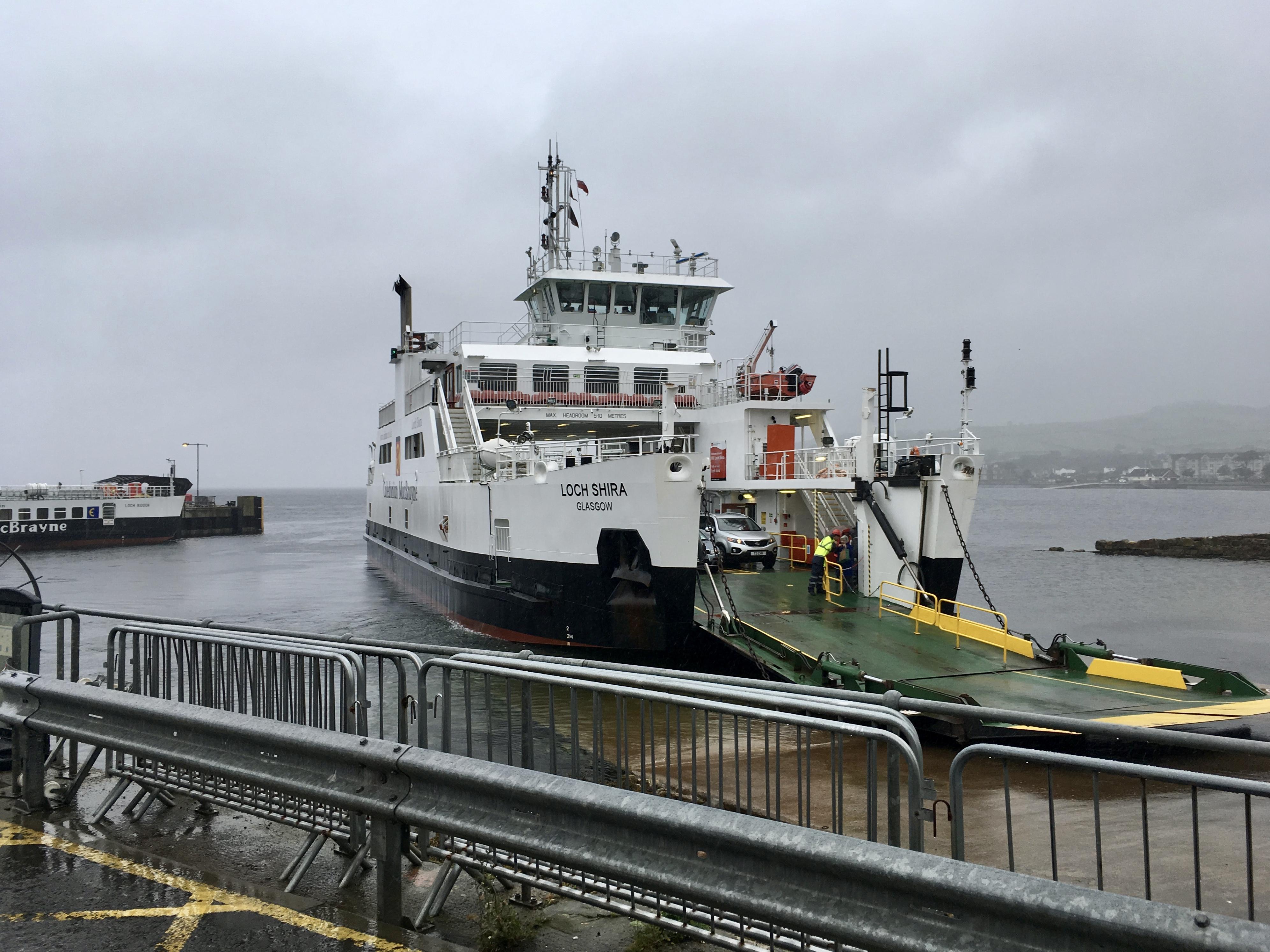Caledonian MacBrayne ferry in Largs by Jez Braithwaite