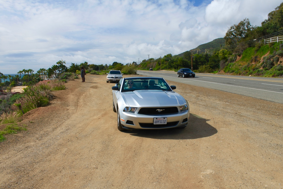 Ford Mustang Convertible by Jez Braithwaite on the Pacific Coast Highway