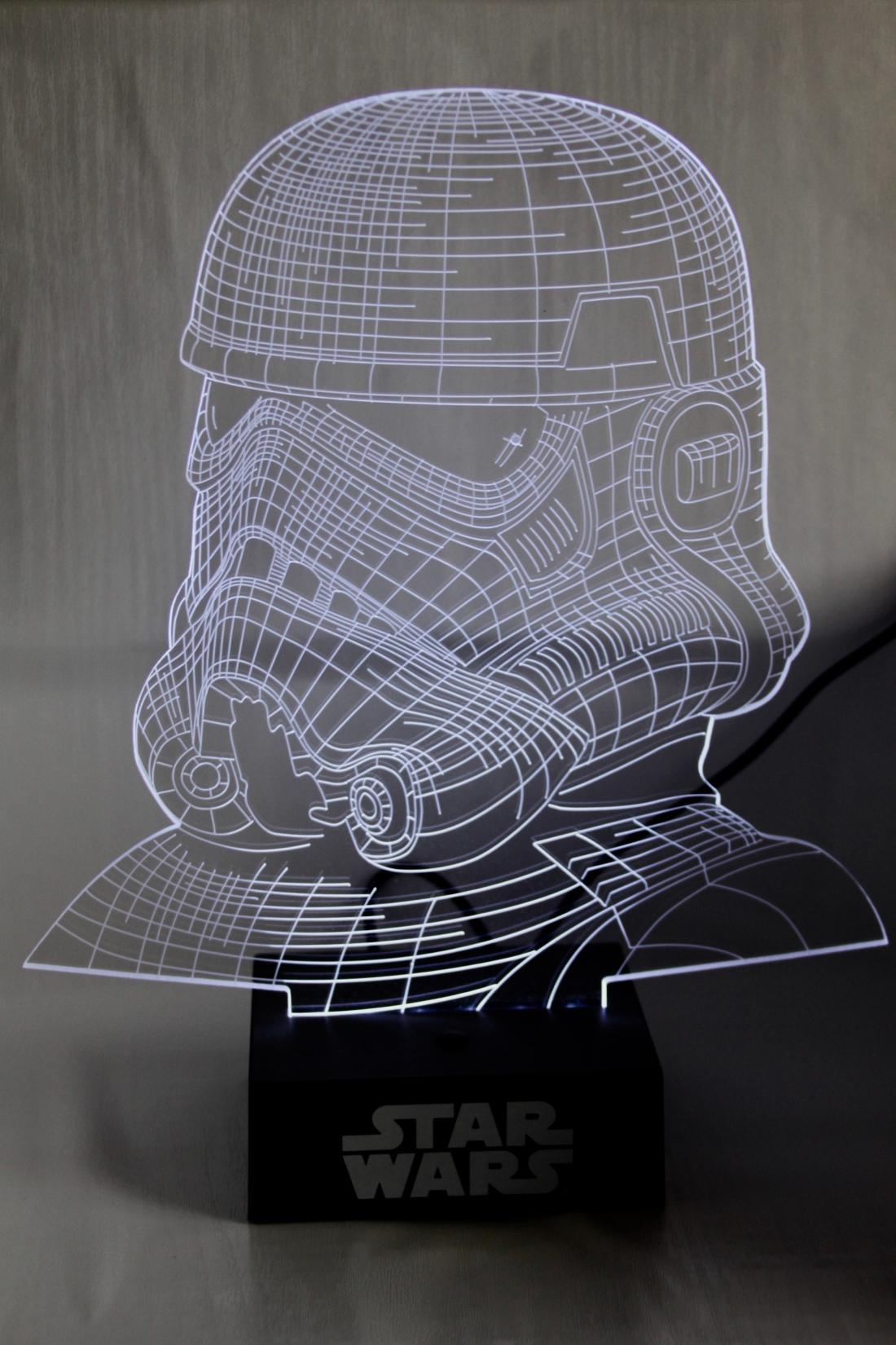 Stormtrooper 3D lamp by Jez Braithwaite