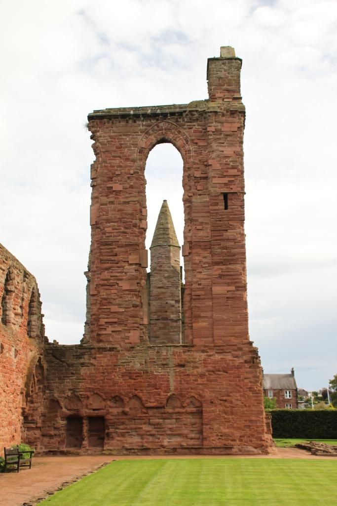 Tower in Arbroath Abbey ruins by Jez Braithwaite