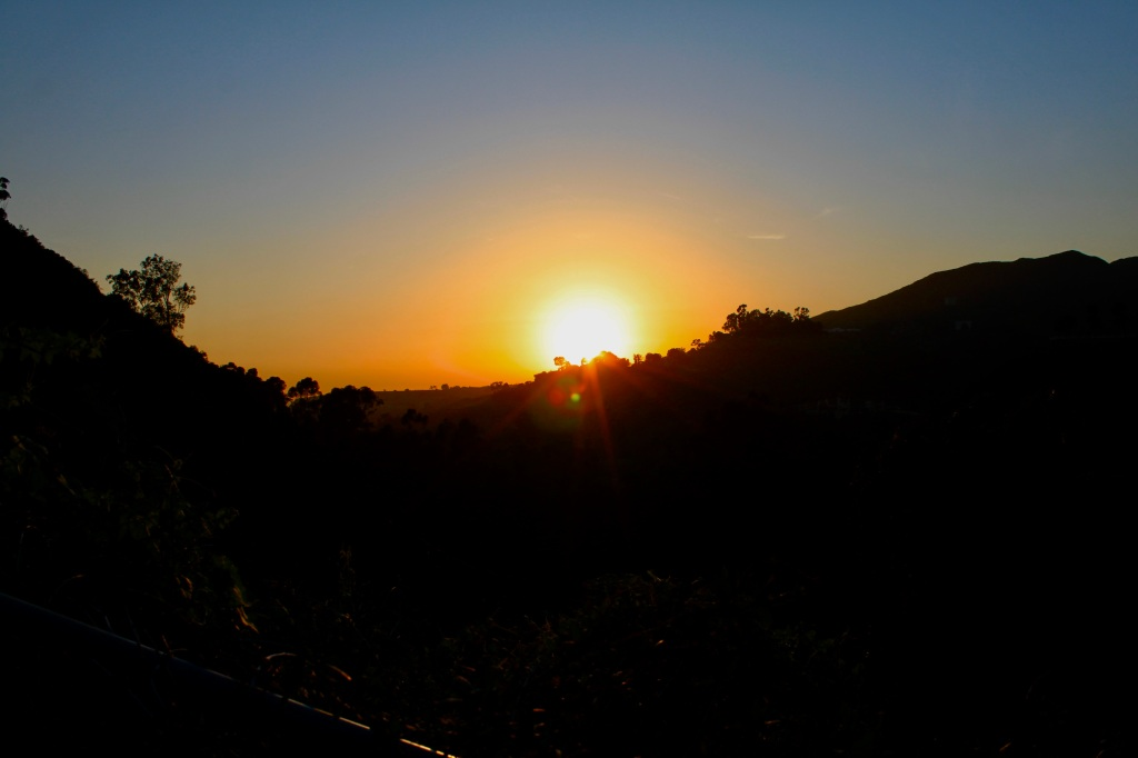 Sunset over Serra Hills by Jez Braithwaite