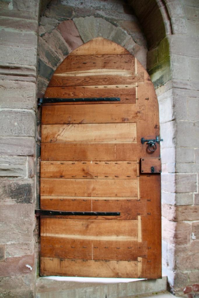 Sacristy door from the inside by Jez Braithwaite