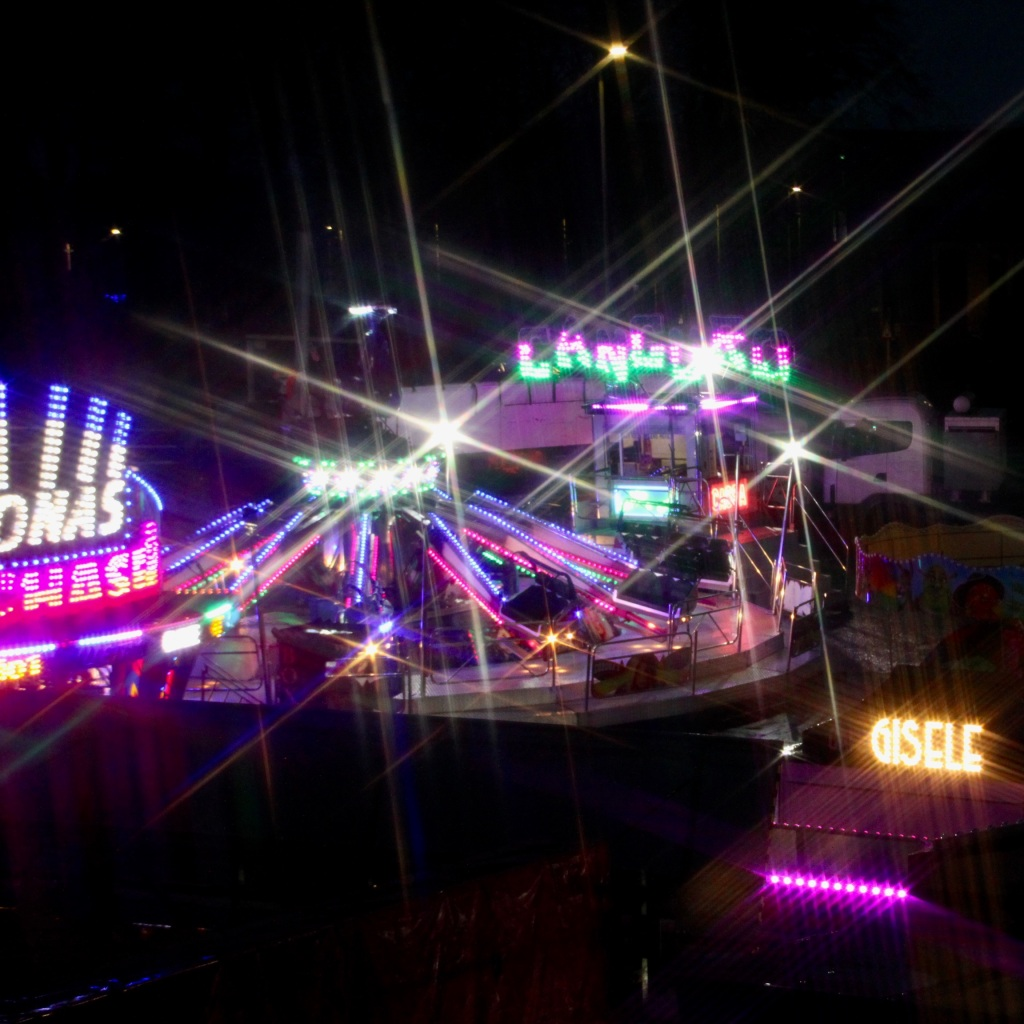 Fairground lights by Jez Braithwaite
