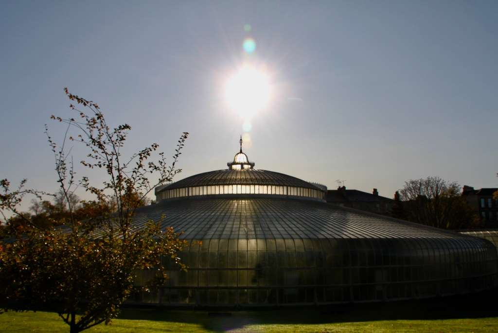 Sun over Kibble Palace