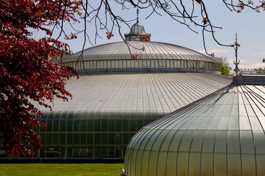 Kibble Palace with red leafs