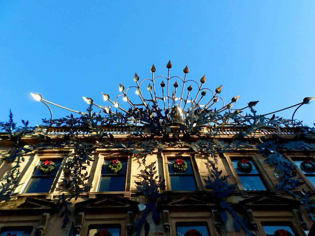 Peacock sculpture