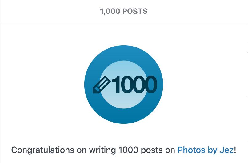 Woohooo 1000 posts