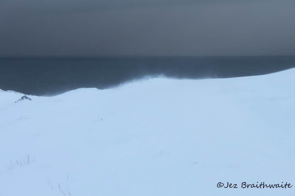 Wind driven snow