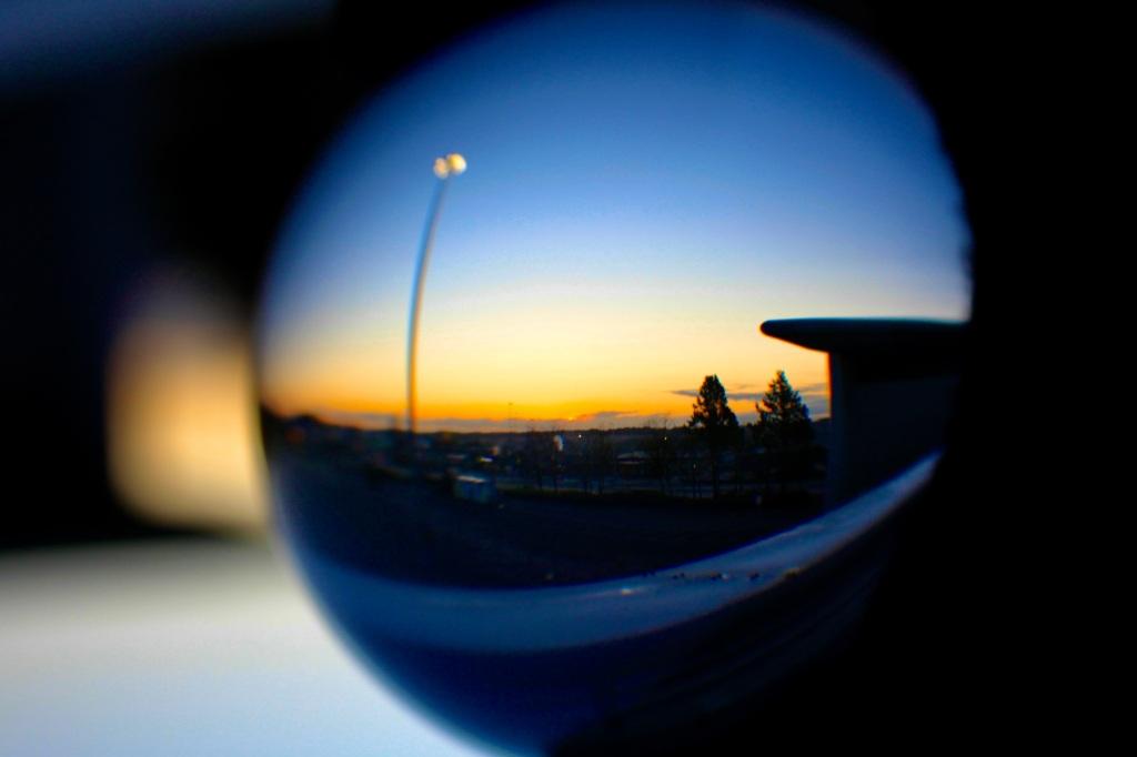 Lensball at dawn