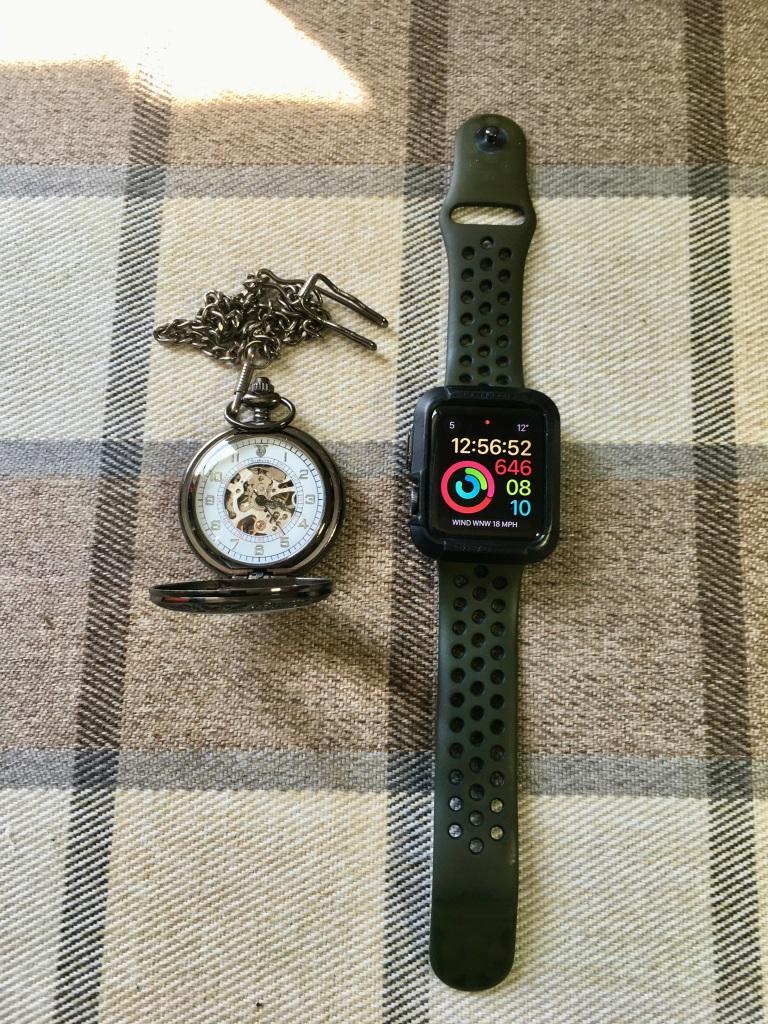 Pocket watch & Apple watch