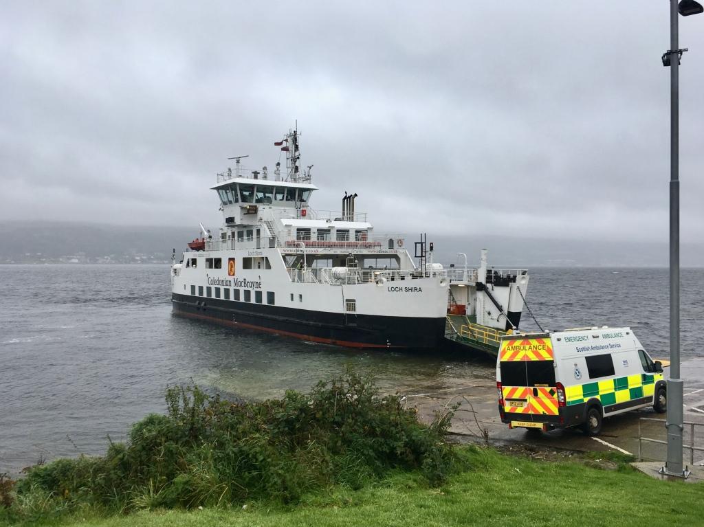 CalMac ferry at Great Cumbrae Island